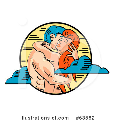 Royalty-Free (RF) Couple Clipart Illustration by Andy Nortnik - Stock Sample #63582