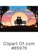 Royalty-Free (RF) Couple Clipart Illustration #85976