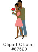 Royalty-Free (RF) Couple Clipart Illustration #87620