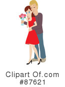 Royalty-Free (RF) couple Clipart Illustration #87621