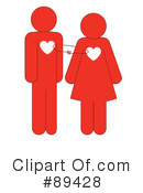 Royalty-Free (RF) Couple Clipart Illustration #89428