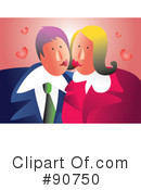 Royalty-Free (RF) couple Clipart Illustration #90750