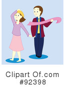 Royalty-Free (RF) Couple Clipart Illustration #92398
