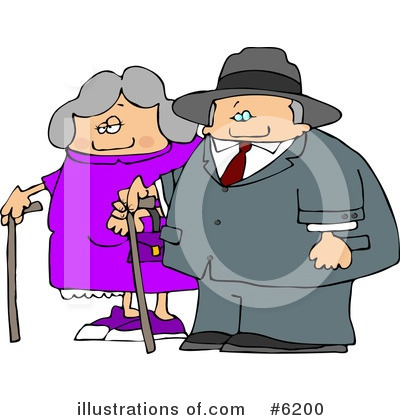 Old Couple Clipart #6200 by djart