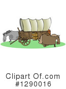 Covered Wagon Clipart #1290016 by djart