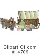 Royalty-Free (RF) Covered Wagon Clipart Illustration #14709