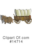 Royalty-Free (RF) Covered Wagon Clipart Illustration #14714