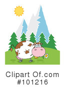Royalty-Free (RF) Cow Clipart Illustration #101216
