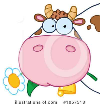 Cow Clipart #1057318 by Hit Toon
