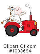 Royalty-Free (RF) Cow Clipart Illustration #1093694