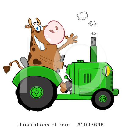 Cow Clipart #1093696 by Hit Toon