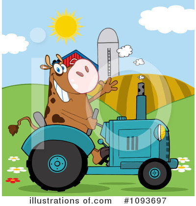 Cow Clipart #1093697 by Hit Toon