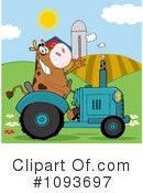 Royalty-Free (RF) Cow Clipart Illustration #1093697
