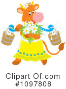 Royalty-Free (RF) Cow Clipart Illustration #1097808