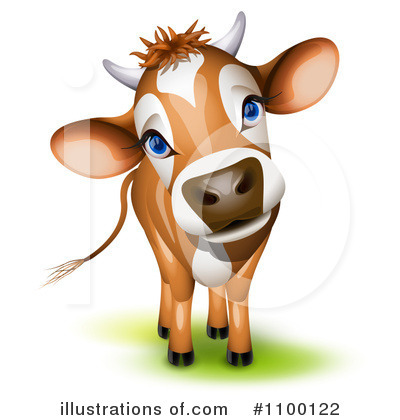 Cow Clipart #1100122 by Oligo