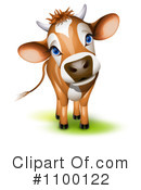 Royalty-Free (RF) Cow Clipart Illustration #1100122