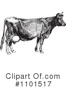 Royalty-Free (RF) Cow Clipart Illustration #1101517