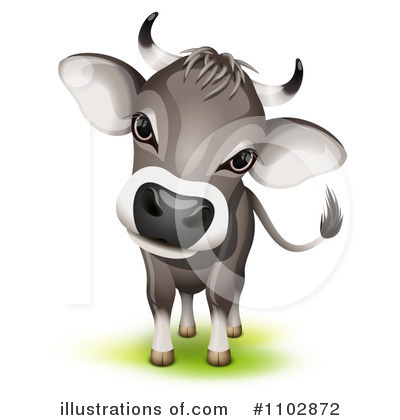 Royalty-Free (RF) Cow Clipart Illustration by Oligo - Stock Sample #1102872