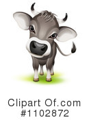Cow Clipart #1102872 by Oligo