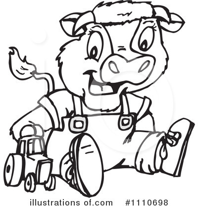 Royalty-Free (RF) Cow Clipart Illustration by Dennis Holmes Designs - Stock Sample #1110698