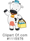 Royalty-Free (RF) Cow Clipart Illustration #1115976