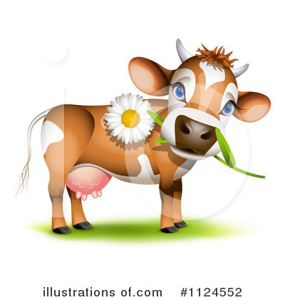 Royalty-Free (RF) Cow Clipart Illustration by Oligo - Stock Sample #1124552