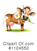 Royalty-Free (RF) Cow Clipart Illustration #1124552