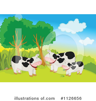 Royalty-Free (RF) Cow Clipart Illustration by Graphics RF - Stock Sample #1126656