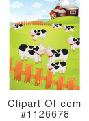 Royalty-Free (RF) Cow Clipart Illustration #1126678