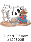 Royalty-Free (RF) Cow Clipart Illustration #1208025