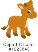 Royalty-Free (RF) Cow Clipart Illustration #1223843