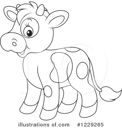 Royalty-Free (RF) Cow Clipart Illustration by Alex Bannykh - Stock Sample #1229265