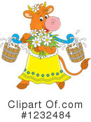 Royalty-Free (RF) Cow Clipart Illustration #1232484