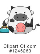 Royalty-Free (RF) Cow Clipart Illustration #1246263