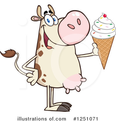 Cow Clipart #1251071 by Hit Toon