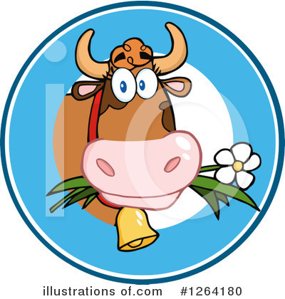 Cow Clipart #1264180 by Hit Toon
