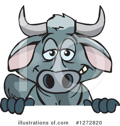 Bull Clipart #1272820 by Dennis Holmes Designs