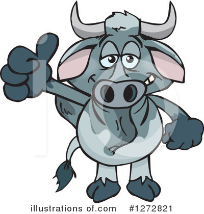 Cow Clipart #1272821 by Dennis Holmes Designs