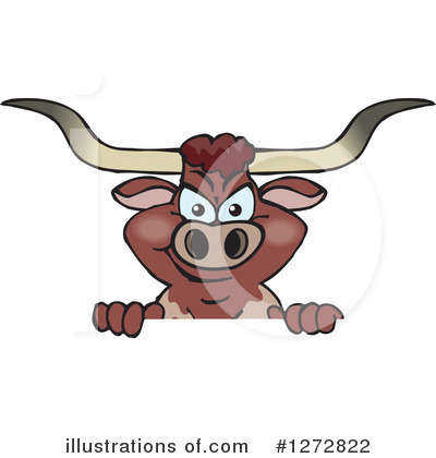 Bull Clipart #1272822 by Dennis Holmes Designs