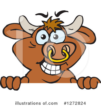 Bull Clipart #1272824 by Dennis Holmes Designs