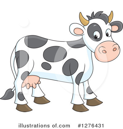 Cow Clipart #1276431 by Alex Bannykh