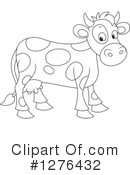 Royalty-Free (RF) Cow Clipart Illustration #1276432