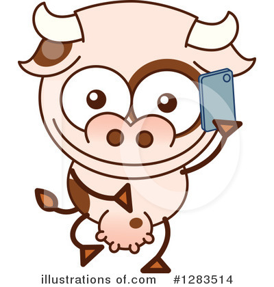 Royalty-Free (RF) Cow Clipart Illustration by Zooco - Stock Sample #1283514