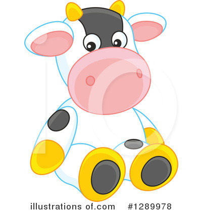 Cow Clipart #1289978 by Alex Bannykh