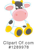 Royalty-Free (RF) Cow Clipart Illustration #1289978