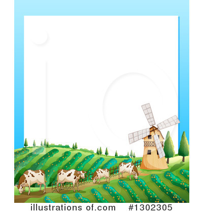 Royalty-Free (RF) Cow Clipart Illustration by Graphics RF - Stock Sample #1302305
