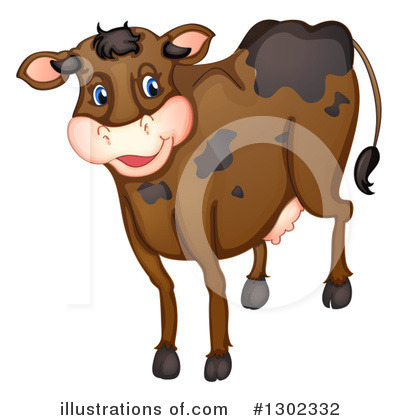 Royalty-Free (RF) Cow Clipart Illustration by Graphics RF - Stock Sample #1302332