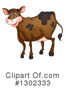 Royalty-Free (RF) Cow Clipart Illustration #1302333