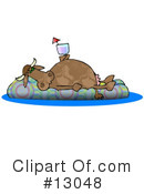 Royalty-Free (RF) Cow Clipart Illustration #13048