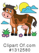 Royalty-Free (RF) Cow Clipart Illustration #1312580